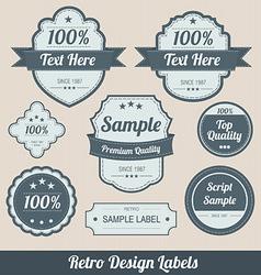 retro labels vector image vector image