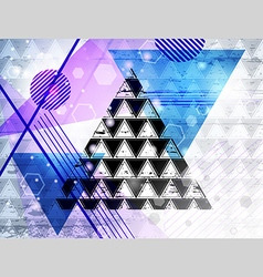 triangle abstraction vector image vector image