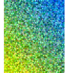 Abstract regular triangle mosaic background design vector image vector image