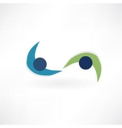 friendly team icon vector image