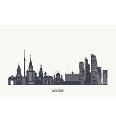 Moscow skyline silhouette vector image vector image