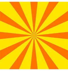 Radial sunray background vector image vector image