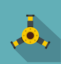 round mechanic detail icon flat style vector image vector image