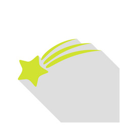 shooting star sign pear icon with flat style vector image vector image
