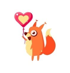 Squirrel Party Animal Icon vector image vector image