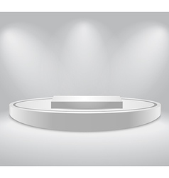 White podium vector image vector image