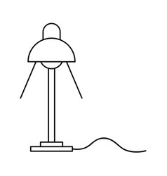 desk lamp light bulb electricity object outline vector image vector image