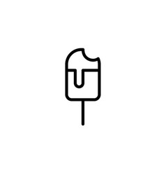 icecream icon thin line black on white background vector image
