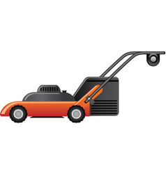 modern red lawn mower vector image