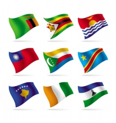 set of world flags 12 vector image vector image