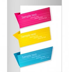 three origami banners vector image vector image