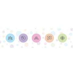 5 challenge icons vector