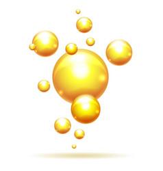 Argan oil bubbles vector