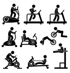 athletic gym gymnasium fitness exercise training vector image