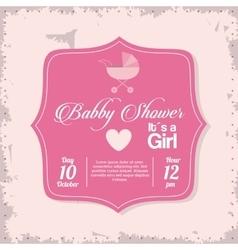 Baby Shower design stroller icon pink vector