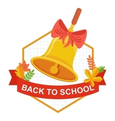 back to school bell logo vector image