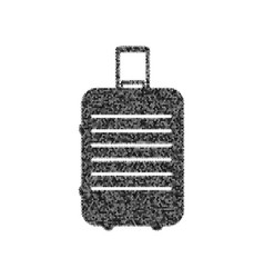 Baggage sign black icon from vector