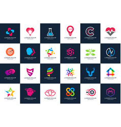 Best modern logo design collections vector
