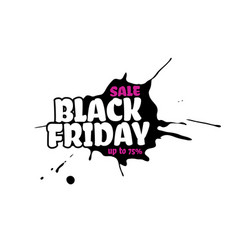 black friday sale text inside a black inky vector image