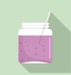 blackberry smoothie icon flat style vector image