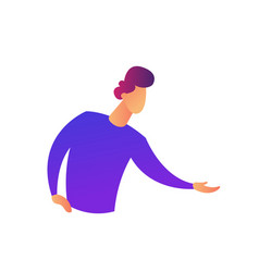 Businessman doing demonstrating gesture with hands vector