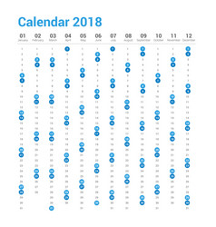 calendar 2018 in vertical design vector image