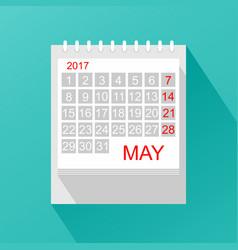 Calendar in flat style vector
