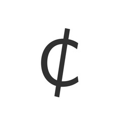 cent sign iconmoney symbol isolated on white vector image