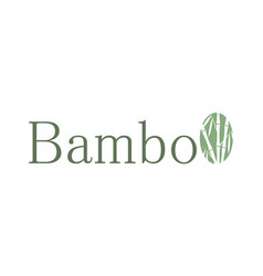 Circle bamboo logo vector