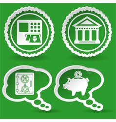 Collect Business Sticker vector image
