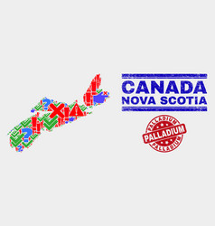 Composition nova scotia province map symbol vector