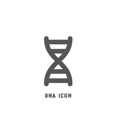 dna icon simple flat style vector image
