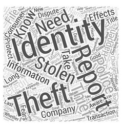 Do You Know What To Do If Your Identity Is Stolen vector image