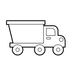Dump truck construction machinery equipment vector