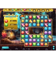 Example of the user interface and the playing vector image