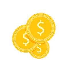 financial investment golden coins vector image