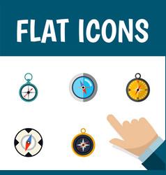 Flat icon compass set of divider navigation vector