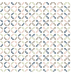 Geometric seamless pattern in pastel colors mid vector