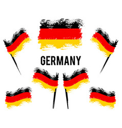 german flag developing in wind germany vector image