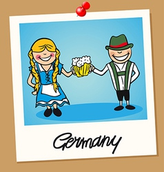 Germany travel polaroid people vector
