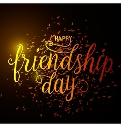 Hand drawn happy friendship vector
