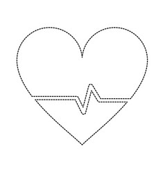 heartbeat medical symbol vector image