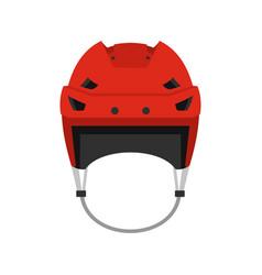 hockey helmet icon flat style vector image