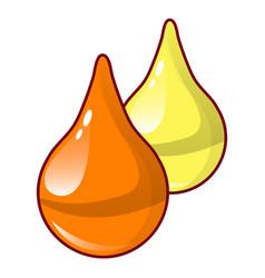 honey drops icon cartoon style vector image