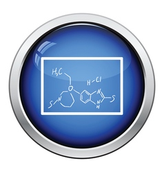 Icon of chemistry formula on classroom blackboard vector
