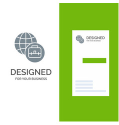 international business grey logo design and vector image