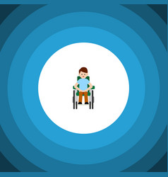 Isolated accessible flat icon disabled person vector