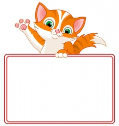 Kitten place card vector