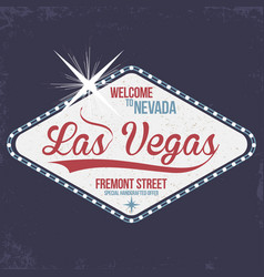 Las vegas welcome to nevada stamp with grunge vector