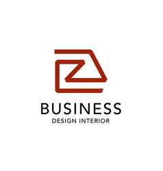 letter r architect home interior logo design vector image